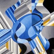"NR 6 E 59 ""Torsons-Blue Lapis"", Strl 48x58cm Pris: 5.900:-"