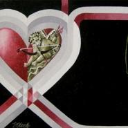"""NR 18 E 74 """"Cupido den säkra datinglinjen"""", Strl 70x50cm (galleriram) Pris: 6.800:-"""