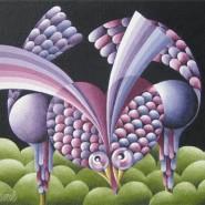 "NR 24 D 16 ""Love birds"", Strl 60x55cm Pris: 6.800:-"