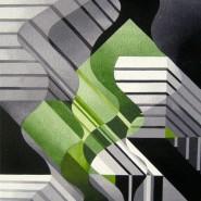 "NR 33 E 41 ""Les Torsons - Smaragd"", Strl 46x57cm Pris: 5.900:- Såld"