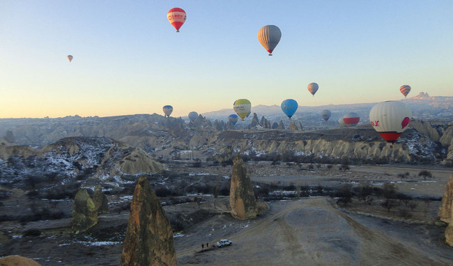 Den fantastiska ballongfärden i Kappadokien.