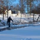 Skridskor på dammen