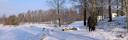 Hundprommenad Våxtorps camping vinter
