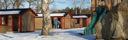 Stugby vinter Våxtorp camping