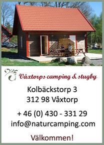 Välkommen till Våxtorps Camping & Stugby utanför Laholm.  Stugcamping i naturskön miljö öppen året runt