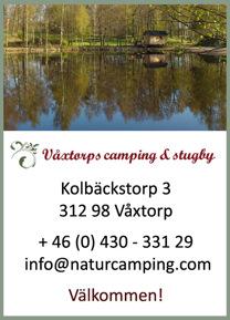 Välkommen att boka vår vedelade bastu på natursköna Våxtorps Camping & Stugby utanför Laholm. Även badtunna för 8 personer