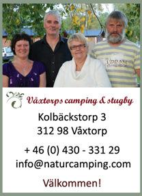 Välkommen att kontakta oss på Våxtorps camping & stugby utanför Laholm