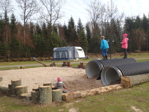 Den nya lekplatsen på Våxtorps Camping och Stugby