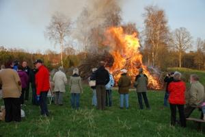 Valborgsmässobål på Våxtorps Camping och Stugby