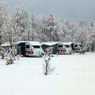 Vinter camping husvagnar