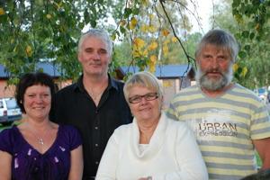 Maritha, Kenny, Gittan och Göran på Våxtorps Camping och Stugby