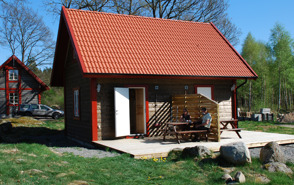 Stugor för uthyrning på Våxtorps Camping och Stugby