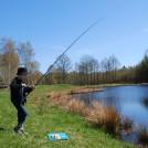Fiska regnbåge i våra fiskedammar