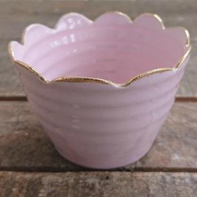 Rosa skål