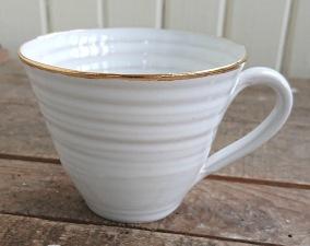 Kaffekopp Estelle vit