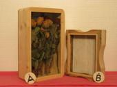 Blomsterlåda,A) D80xB206xH335,  B) liten låda D44xB198xH240