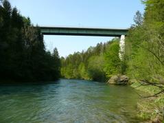 Stefaniebrücke L.120 m.H.36 m.