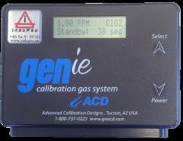 Generator för testgas