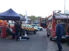 Räddningstjänst provar gasvarnare