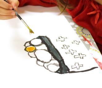 Teckning- och målarskola, fr. 7 år
