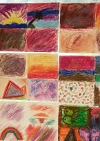 Lite blandade konstverk av barnen.