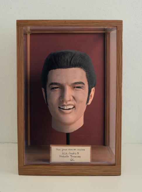 """How great thou art sessions, RCA Studio B, Nashville, Tennessee 66."" Mixed media. Dimensions including glass box: H:24,5 cm W:15,5 cm D:15,5 cm © Jonas Brandin 2017"