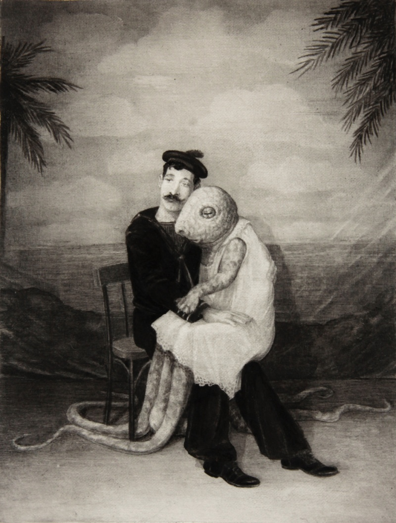 """""""The Man Who Fell In Love With A Creature From The Depths Of The Sea """"  © Jonas Brandin 2017"""
