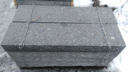 Trappsteg granit flammad -