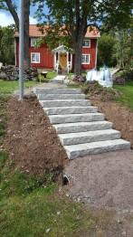 Råkilade trappsteg - 1200x350x150 mm