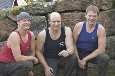 Fårklipparna Patrik, David och Hans-Olof.