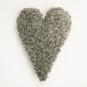 Fårskinnskudde hjärtformad - Grå