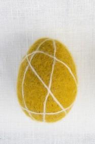 Tovat ägg med linjer - Senapsgult