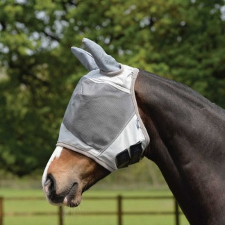 Masta UV Fly Mask with Ear Protection Silver - Masta UV Fly Mask with Ear Protection Silver Ponny