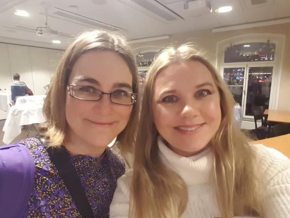 Min författarvän Kristina Svensson och jag