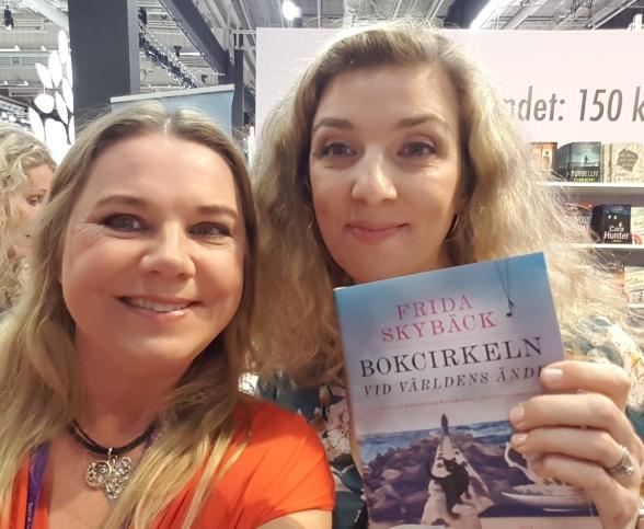Jag och Frida Skybäck på Bokmässan 2019