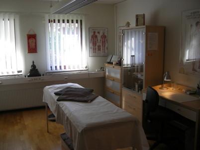 Behandlingsrum på Qi & Balanskliniken