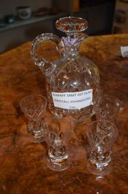 1514. Karaff och 4 glas