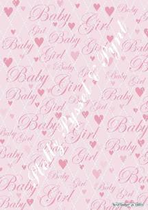 Barto Design bakgrundsark Baby Rosa, 70g - Barto Design bakgrundsark Baby Rosa, 70g