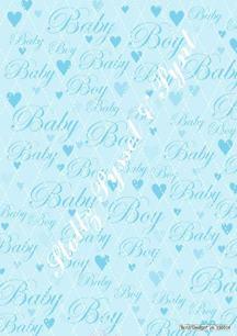 Barto Design Papper bakgrundsark Baby Blå, 70g - Barto Design Papper bakgrundsark Baby Blå, 70g