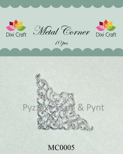 Dixi craft Metallhörn Välj färg silver vit svart brons - metallhörn silver MC0005