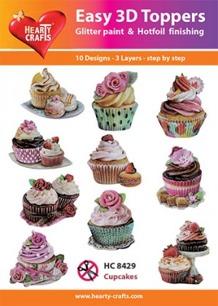 Easy 3D utstansat - Cupcake - Easy 3D utstansat - Cupcake