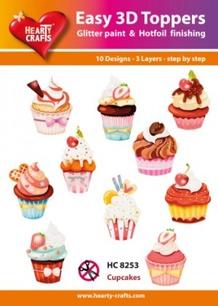 Easy 3D utstansat - Cupcakes - Easy 3D utstansat - Cupcakes