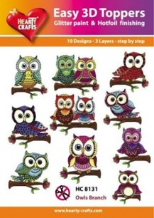 Easy 3D utstansat - Owls Branch - Easy 3D utstansat - Owls Branch
