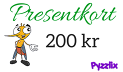 Presentkort 200 kr på Pyzzlix