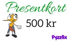 Presentkort 500 kr på Pyzzlix