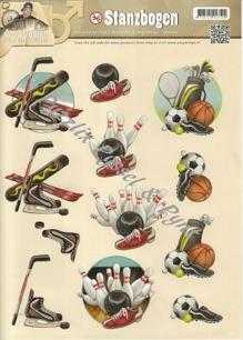 Amy design 3D Utstansat - Sportmotiv - 3D - Amy design - Sportmotiv