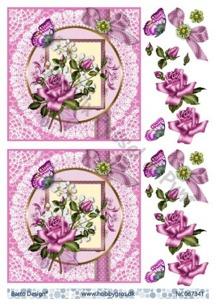 Barto Design 3D klippark - Rosa rosor - Barto Design 3D klippark - Rosa rosor