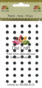 Dixi Craft Rhinstone, 5 mm Svart - Dixi Craft Rhinstone, 5 mm Svart