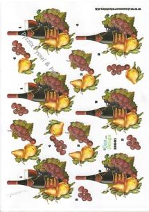 Dan design 3D Klippark - Rödvin m frukter - Dan design 3D Klippark - Rödvin m frukter