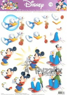 Disney 3D klippark - Mickey Mouse and Friends - Disney 3D klippark - Mickey Mouse and Friends